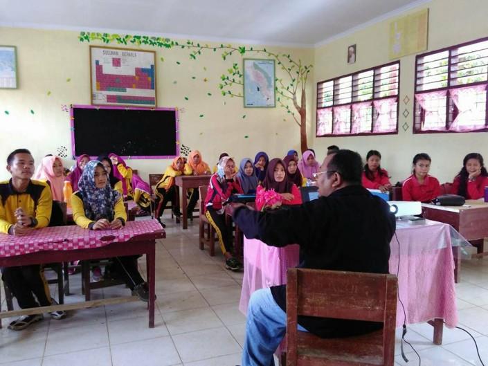 Sosialisasi /Ceramah SAPTA PESONA kepada murid murid SMA Negeri I Bahorok, Kabupaten Langkat